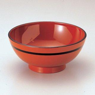 ラーメン丼 朱黒ライン 漆器 めん鉢・鉄鉢 業務用