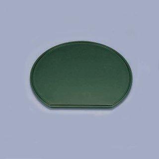 尺3寸半月足付膳 グリーン乾漆 漆器 半月盆 業務用