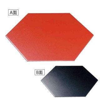 尺5寸六角プレート 朱石目/黒石目 漆器 六角トレー 業務用