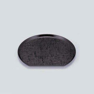 布目半月盆 黒 7.5寸 漆器 半月盆 業務用