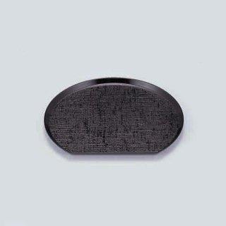 布目半月盆 黒 尺1寸 漆器 半月盆 業務用