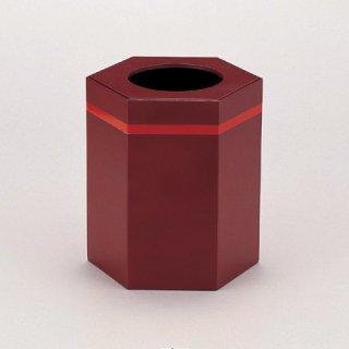 くず入れ 茶乾漆ライン 漆器 ティッシュボックス・ダストボックス 業務用