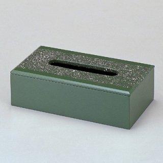 ティッシュボックス グリーン乾漆吹雪 漆器 ティッシュボックス・ダストボックス 業務用
