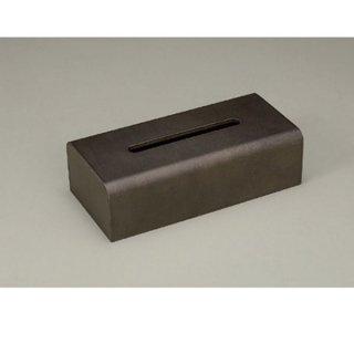 ウッディ ティッシュBOX こげ茶 漆器 ティッシュボックス・ダストボックス 業務用