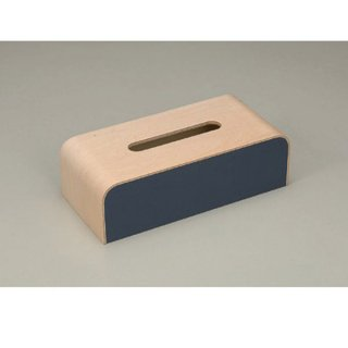 ウッディ ティッシュBOX ネイビー 漆器 ティッシュボックス・ダストボックス 業務用