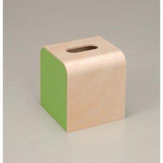 ウッディ ティッシュBOX ライトグリーン 漆器 ティッシュボックス・ダストボックス 業務用