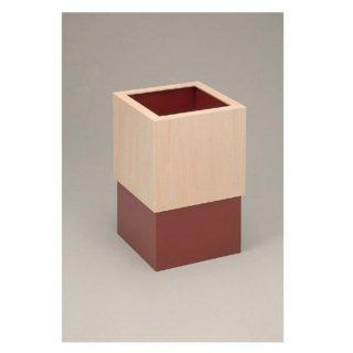 キューブスライドダストBOX赤 漆器 ティッシュボックス・ダストボックス 業務用
