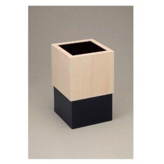 キューブスライドダストBOX黒 漆器 ティッシュボックス・ダストボックス 業務用