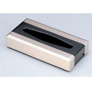 D.X低型ティッシュボックス 銀塗り分け 漆器 ティッシュボックス・ダストボックス 業務用