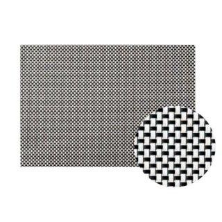 Col.1ブラック&ホワイトチェックエレガントマット 漆器 テーブルマット 業務用