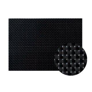Col.10ブラック&ブラックチェックエレガントマット 漆器 テーブルマット 業務用