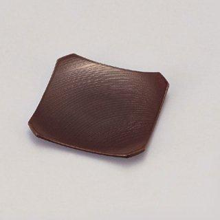 隅切銘々皿 溜木目 漆器 銘々皿業務用