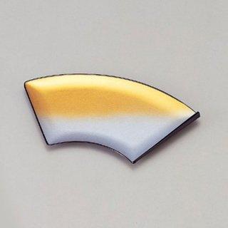 扇面菓子皿 金銀光彩 漆器 銘々皿業務用