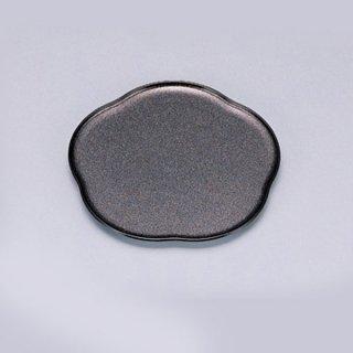 梅型皿 パール渕黒 漆器 銘々皿業務用