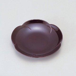 5寸梅型菓子皿 総溜 漆器 銘々皿業務用