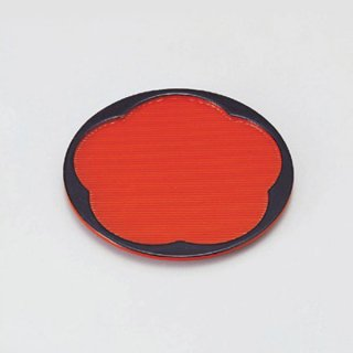 梅型銘々皿 朱天黒 漆器 銘々皿業務用
