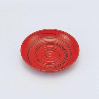 4.5寸木彫り丸皿 古代根来 漆器 銘々皿業務用