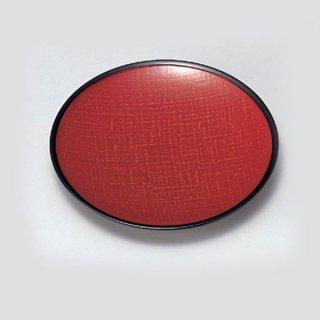 5.5寸布目銘々皿 朱かすり渕黒 漆器 銘々皿業務用
