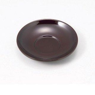 4寸だるま茶托 溜 漆器 茶托・コースター業務用