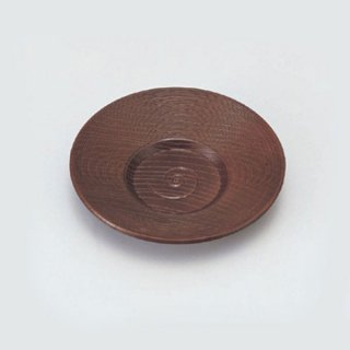 3.8寸乱筋茶托 溜 漆器 茶托・コースター業務用