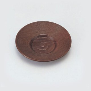 4寸乱筋茶托 溜 漆器 茶托・コースター業務用