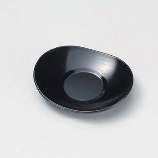 小判刷毛目茶托 黒 漆器 茶托・コースター業務用