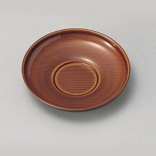 4寸だるま木目茶托 漆調春慶塗 漆器 茶托・コースター業務用
