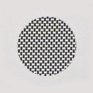 エレガントマットコースター col.1 ブラック&ホワイトチェック 漆器 茶托・コースター業務用