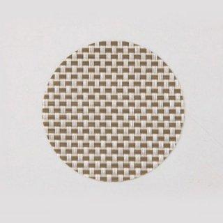 エレガントマットコースター col.2 ホワイト&オリーブチェック 漆器 茶托・コースター業務用