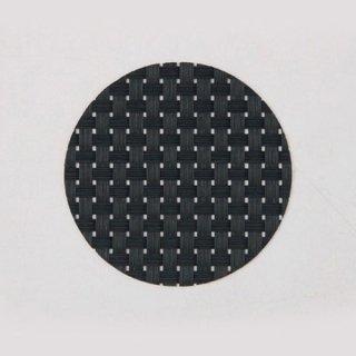 エレガントマットコースター col.10 ブラック&ブラックチェック 漆器 茶托・コースター業務用