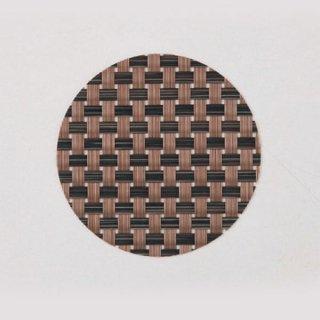 エレガントマットコースター col.11 ブラック&ダークブラウンチェック 漆器 茶托・コースター業務用