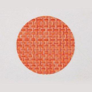 エレガントマットコースター col.14 オレンジチェック 漆器 茶托・コースター業務用