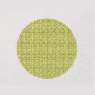エレガントマットコースター col.15 グリーンチェック 漆器 茶托・コースター業務用