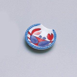 半月箸置き 赤カニ 漆器 箸置 業務用
