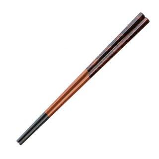 五角先太塗箸紫檀塗分21cm・22.7cm 漆器 塗箸(樹脂)(22cm未満) 業務用