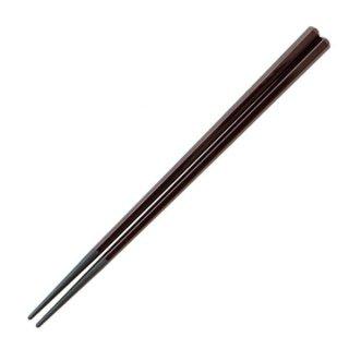 24cm六角塗箸 新溜塗 漆器 塗箸(樹脂)(22cm以上) 業務用