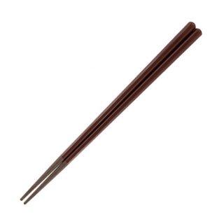 21cm六角塗箸 溜 モカ 漆器 塗箸(樹脂)(22cm未満) 業務用