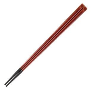 22.5cm天削塗箸 春慶 ブラック 漆器 塗箸(樹脂)(22cm以上) 業務用