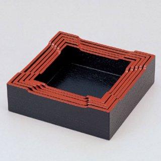 木製灰皿枠 黒天朱 15cm角〜 漆器 灰皿 業務用