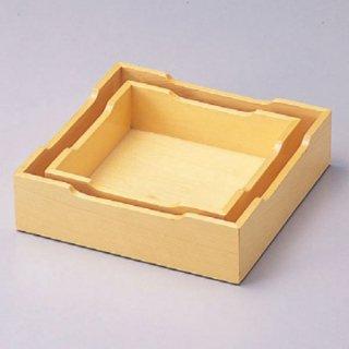 白木灰皿枠 15cm角〜 漆器 灰皿 業務用