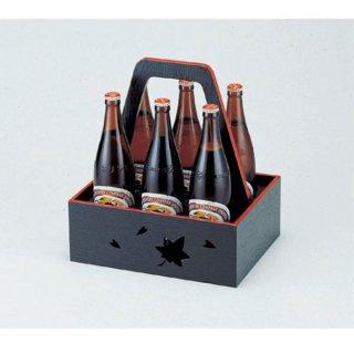 6本用ビール運び 黒天朱 漆器 ビール運び・銚子運び 業務用