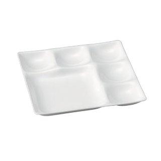 ベガスプレート 陶磁器調白 漆器 ビュッフェ 仕切プレート 業務用