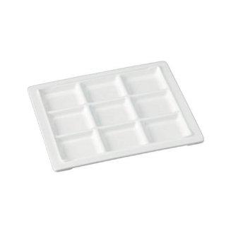 ナイスプレート 9ツ仕切 白 漆器 ビュッフェ 仕切プレート 業務用