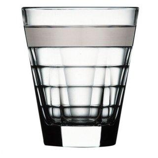 バゲッティ 340オールド プラチナ ガラス ロックグラス 業務用