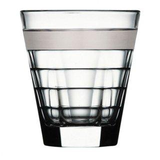 バゲッティ 280オールド プラチナ ガラス ロックグラス 業務用