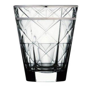 カッレ 340オールド プラチナ ガラス ロックグラス 業務用