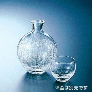 ヒビ丸型徳利 ガラス 酒 業務用