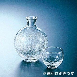ヒビ丸型盃 ガラス 酒 業務用