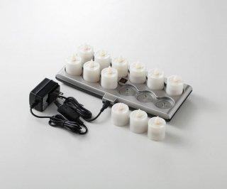 スマートキャンドル プラチナネクスト レギュラータイプ 連結対応12ピースセット ガラス ランプ 業務用