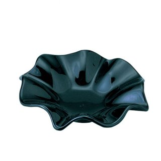 フラワー L BK ガラス 灰皿 業務用